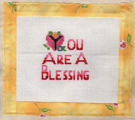 Dody's cross-stitch