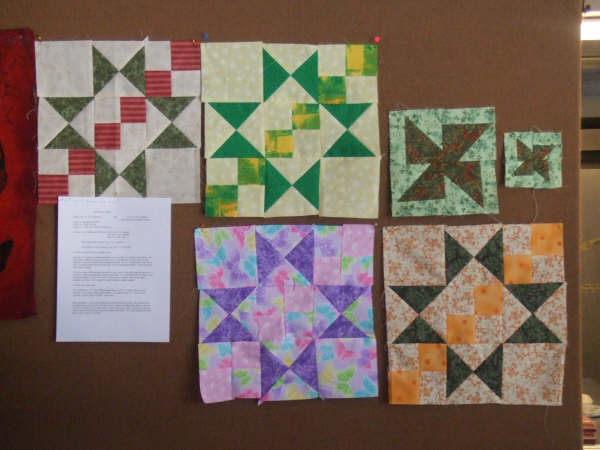 blocks made during two classes