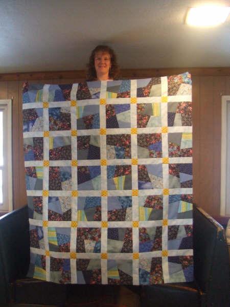 Melanie's crazy quilt top